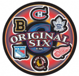NHL Original Six Commemorative Collectors Puck with Display Case.